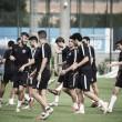 Los futbolistas del B entrenando en la Ciutat Esportiva Joan Gamper. Foto: Noelia Déniz, VAVEL.com