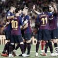 Los jugadores del F.C. Barcelona celebrando un tanto frente al GIrona   Foto: LaLiga Santander
