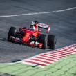 Vettel recorre 156 vueltas con los nuevos Pirelli en el Ferrari del 2015