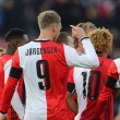 Eredivisie: il Feyenoord gioca a tennis nel derby di Rotterdam, due reti per l'Ajax. Il PSV pareggia e resta indietro