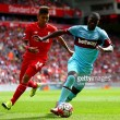 Liverpool vs West Ham United Live Stream Score Commentary in Premier League 2016