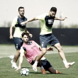 El Granada CF disputa un partido contra el filial en la sesión de recuperación