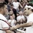 Federer vence e encerra jornada emocionante do britânico Marcus Willis