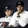 """Hamilton: """"Sessione molto divertente"""". Rosberg: """"I meccanici di Lewis hanno aiutato i miei"""""""