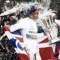 Lewis Hamilton celebrando su tercer título en el Gran Premio de Estados Unidos de 2015 | Fuente: Getty Images