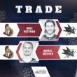 Ottawa Senators trade Mike Hoffman to San Jose Sharks for Mikkel Boedker