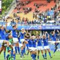 Italy players reacting after beating China. Photo: FIGC