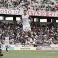 Guillermo Martínez festejando el gol del triunfo para Mineros de Zacatecas.