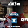 Previa Junior - Santa Fe: los 'cardenales' regresan a la competencia en Liga Águila