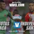 Previa Patriotas vs Independiente Santa Fe: un cuadro boyacense ante la renovación 'Albiroja'