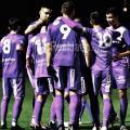 Los jugadores del Real Jaén celebran la victoria ayer. Foto: Real Jaén.