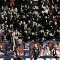 Los jugadores celebrando el gol con graderío sur // Fuente: LaLiga