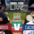 Indios Cleveland vs Cachorros Chicago en vivo ahora en Juego 3 de la Serie Mundial final MLB (0-0)