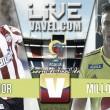 Resultado Junior - Millonarios por cuartos de final Liga Águila (2-0)
