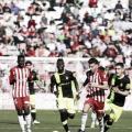 Juan Carlos y Eteki en el partido frente al Mallorca | Fuente: La Liga