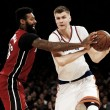 Miami Heat cruise by New York Knicks with 105-88 victory to drop them from playoff contention