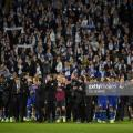 Leicester City's players applaud their supporters after the full time whistle after an emotional goalless draw with Burnley (Photo: Getty Images: Oli Scarff)