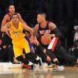 NBA Preseason 2016 - Lillard e Portland espugnano Los Angeles: Lakers al tappeto in overtime (109-106)