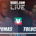 Resumen del partido Pumas 2-2 Toluca de la Liga MX 2019