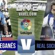Resultado Leganés vs Real Sociedad en vivo online en La Liga 2016 (0-0)