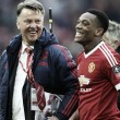 Martial isn't ready to be a striker, admits van Gaal
