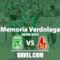 Memoria 'verdolaga': Atlético Nacional y una victoria ante Tolima para acercarse a la final del 2011-I