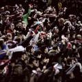 Los aficionados franjirrojos en el partido ante el Eibar | Fotografía: Rayo Vallecano S.A.D.