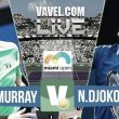 Resultado Djokovic vs Murray en Miami 2015 (2-1)