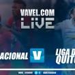 Nacional logróempatar en los minutos finales frente a Liga(1-1)