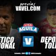 Previa Atlético Nacional Vs Deportes Tolima: El 'verde' quiere un buen 'sorbo' de vino tinto