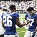 Saquon Barkley y Stearling Sheppard serán los lideres ofensivos del ataque de los Giants (foto Giants.com)