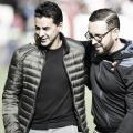 Míchel con el entrenador del Getafe | Fotografía: LaLiga Santander