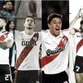 Pratto, Alario, Crespo y Funes convirtieron goles de los más importantes de la historia del Millonario. Foto: Fotomontaje.