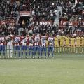 Ambos equipos guardan un minuto de silencio antes del inicio del partido. | LaLiga 1|2|3.
