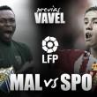 Previa Málaga - Sporting: un sueño contra una necesidad