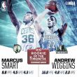 Marcus Smart y Andrew Wiggins, mejores rookies del mes