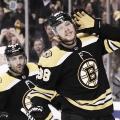 El 88 de los Bruins, David Pastrnak. Fuente: Getty Images/Zimbio.com