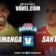 Previa Atlético Bucaramanga vs. Santa Fe: asfixiante descenso contra la comodidad del liderato