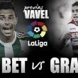 Previa Real Betis - Granada: los de Poyet buscan su primera victoria en casa
