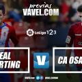 Previa Real Sporting - CA Osasuna: hora de redimirse en casa