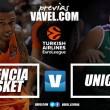 Previa Valencia Basket - Unicaja Málaga: rachas contrapuestas en la Fonteta