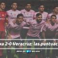 Puntuaciones de Necaxa en la jornada 12 de la Liga MX CL19