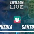 Resultado y goles del Puebla 1-1 Santos de la Liga MX 2019