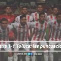 Puntuaciones de Necaxa en la jornada 10 de la Liga MX CL19