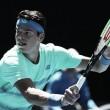 Australian Open: Milos Raonic serves past Gilles Muller