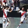 De Tomás celebra su gol con Álex Moreno. Foto: La Liga