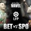 Real Betis - Sporting de Gijón: 'Finales' en febrero