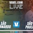 Jogo São Bernardo x São Paulo AO VIVO hoje no Campeonato Paulista (0-0)