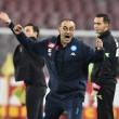 """Napoli, la soddisfazione di Sarri: """"Ottimo primo tempo, ma abbiamo sprecato troppo"""""""