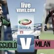 Risultato finale Sassuolo - Milan in diretta, Serie A 2016/17 LIVE (0-1): Bacca regala i tre punti ai rossoneri